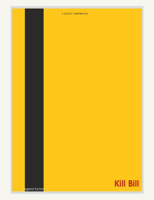 Affiche décalée minimaliste Kill Bill