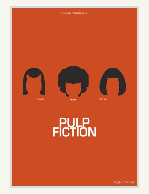 Affiche décalée minimaliste Pulp Fiction