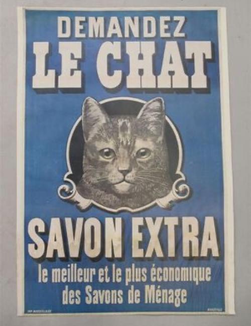 Affiche ancienne le Chat - Savon Extra