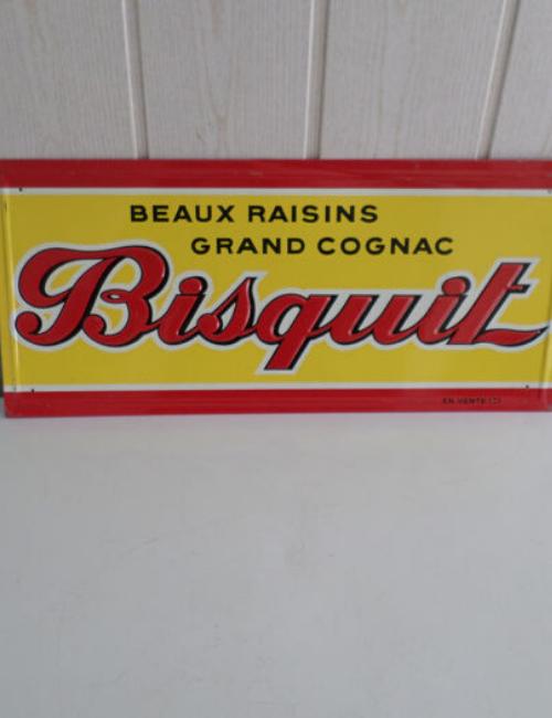 Plaque publicitaire ancienne - Bisquit