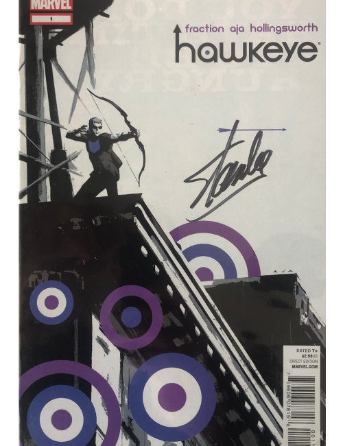 Marvel - Hawkeye signé par Stan Lee