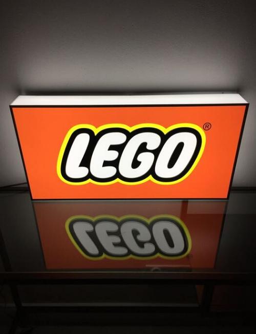 Enseigne publicitaire lumineuse Lego - collectors