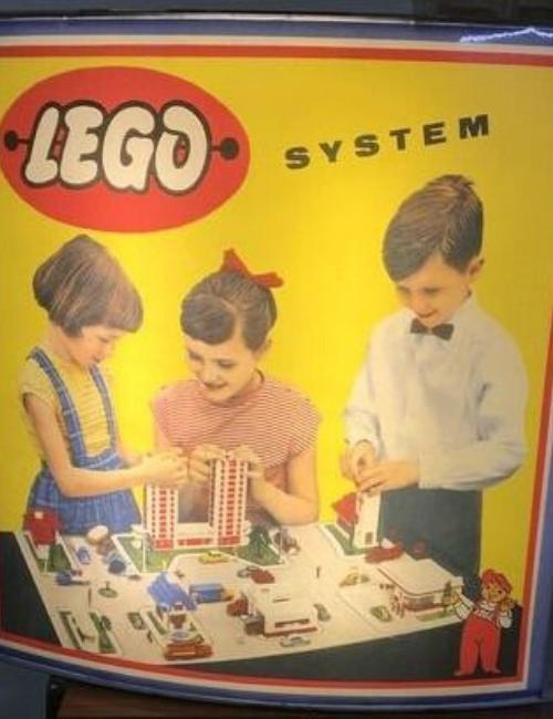 Enseigne publicitaire vintage Lego