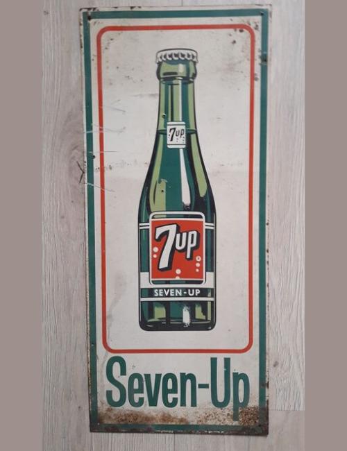 Plaque publicitaire ancienne 7up
