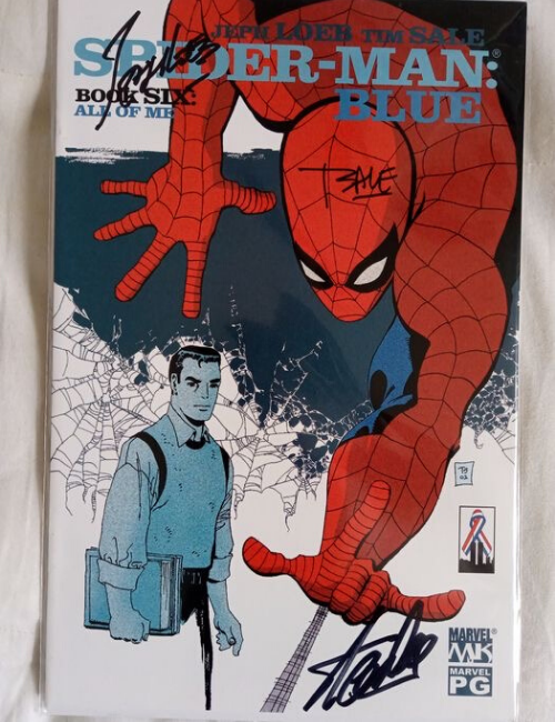 Marvel - Spiderman Blue signé par Stan Lee