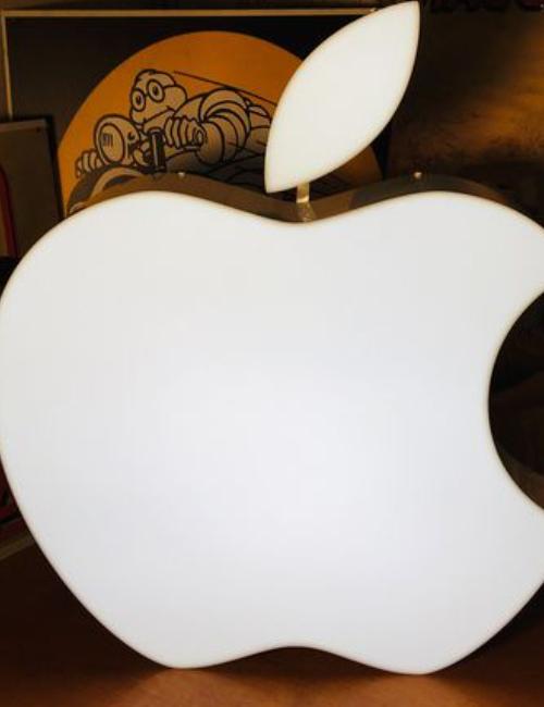 Enseigne publicitaire lumineuse Apple - collectors