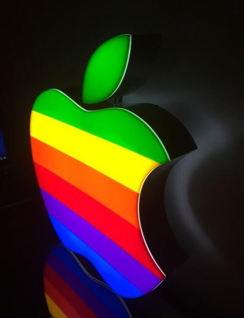 Enseigne publicitaire lumineuse Apple - Rare