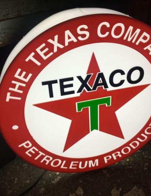 Enseigne publicitaire lumineuse Texaco - collectors