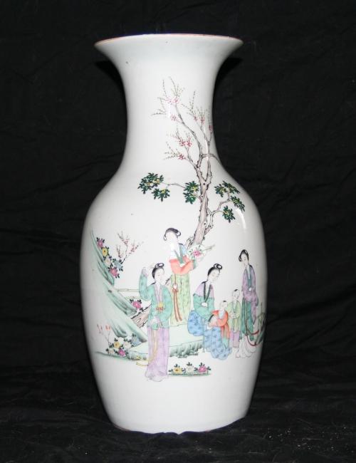 vase chinois femmes et enfants