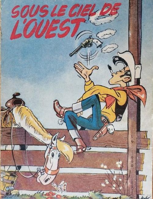 Lucky Luke T4 - Sous le ciel de l'Ouest - EO - (1952) rare