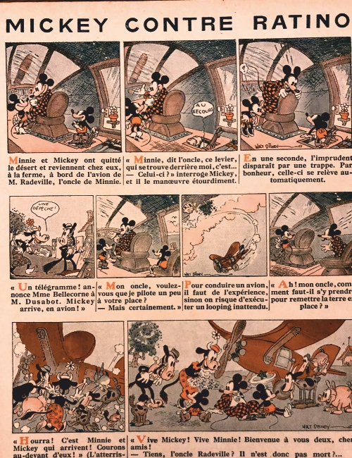 Mickey contre Ratino 1932