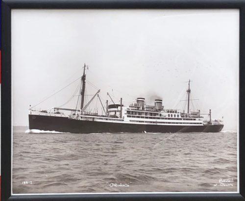 """Photographie de Beken of Cowes bateau vapeur """"Orinoco"""""""