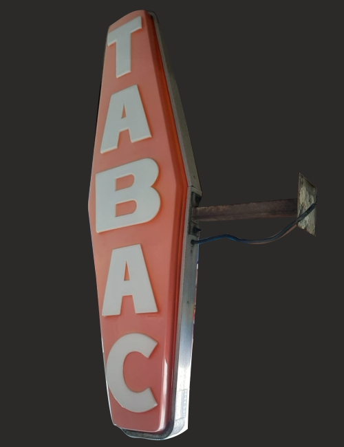 Carotte tabac vintage néon