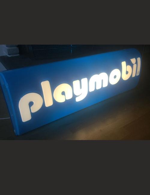 Enseigne publicitaire lumineuse Playmobil