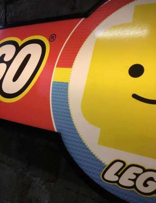 Enseigne publicitaire lumineuse Lego - Vintage
