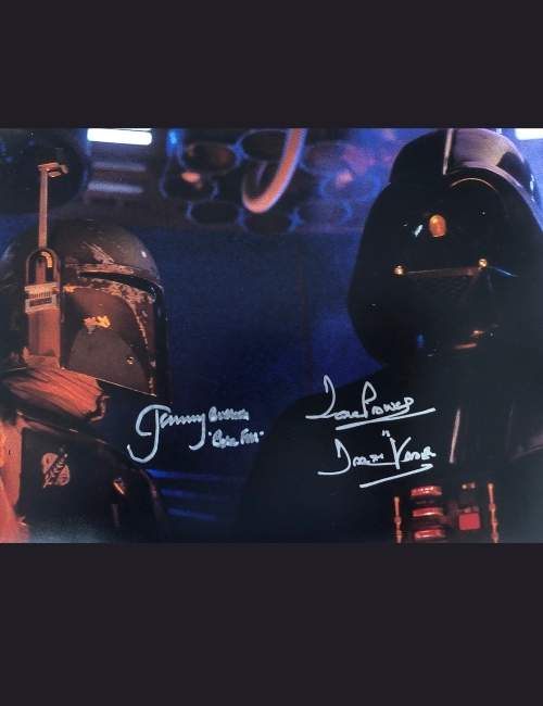 Photo dédicacée par Jeremy Bullock et Dave Prowse - Star Wars