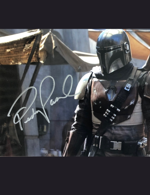 Photo dédicacée Pedro Pascal - The Mandalorian
