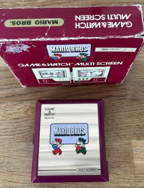 Game Watch Mario Boite