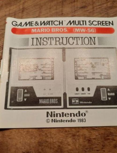 Game & Watch Mario Boite d'origine