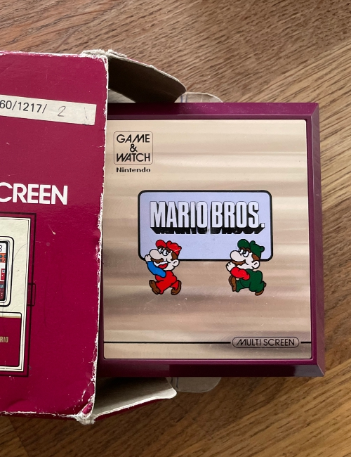Game Watch Mario Boite