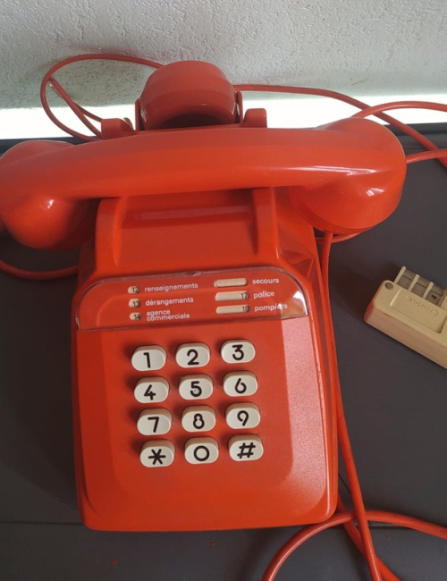 Téléphone Socotel orange