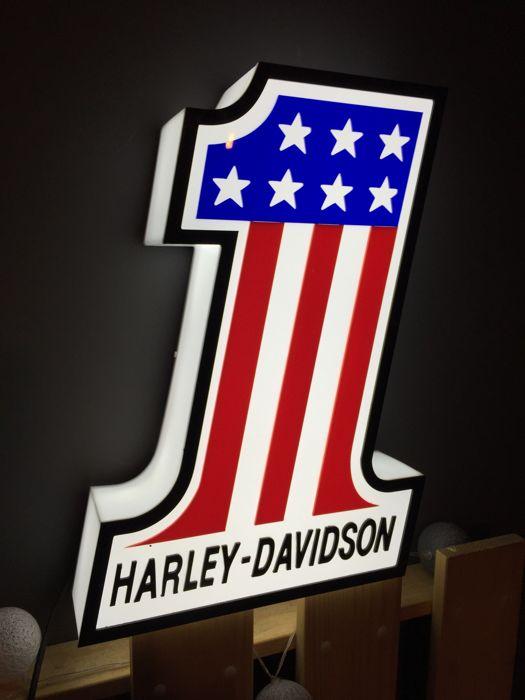 """Enseigne lumineuse """"One"""" Harley-Davidson"""