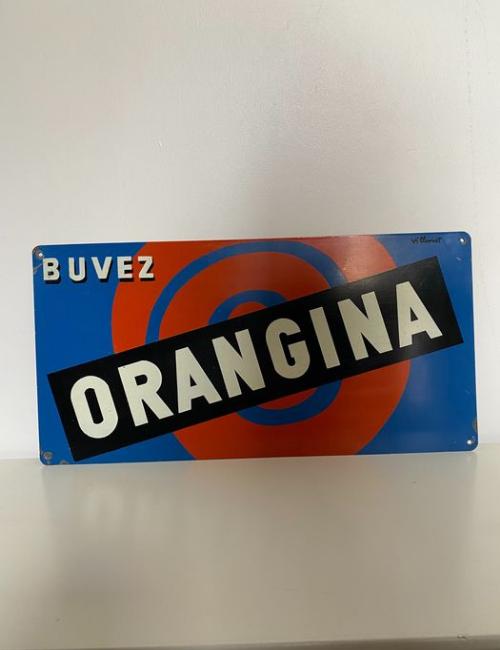 plaque emaillee orangina