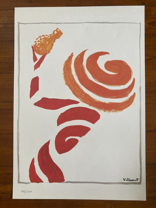 Affiche litho numérotée Villemot - La femme zeste